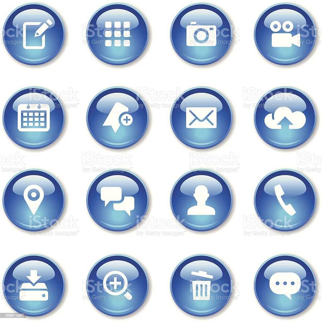 Crystal Icons Set   Smart Phone royalty-free stock vector art