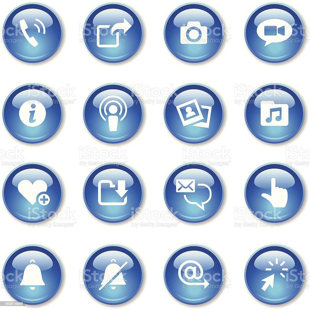 Crystal Icons Set | Smart Phone royalty-free stock vector art