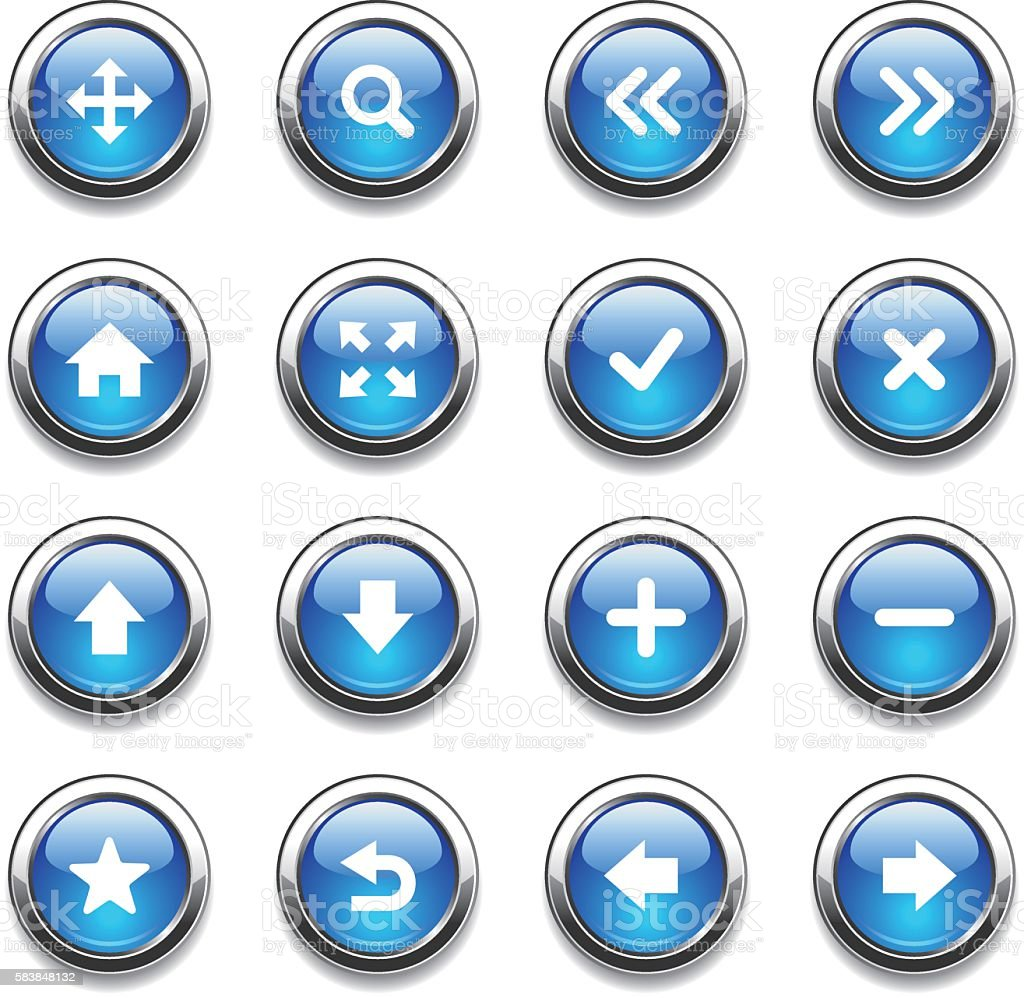 Crystal Icons Set | Web Design vector art illustration