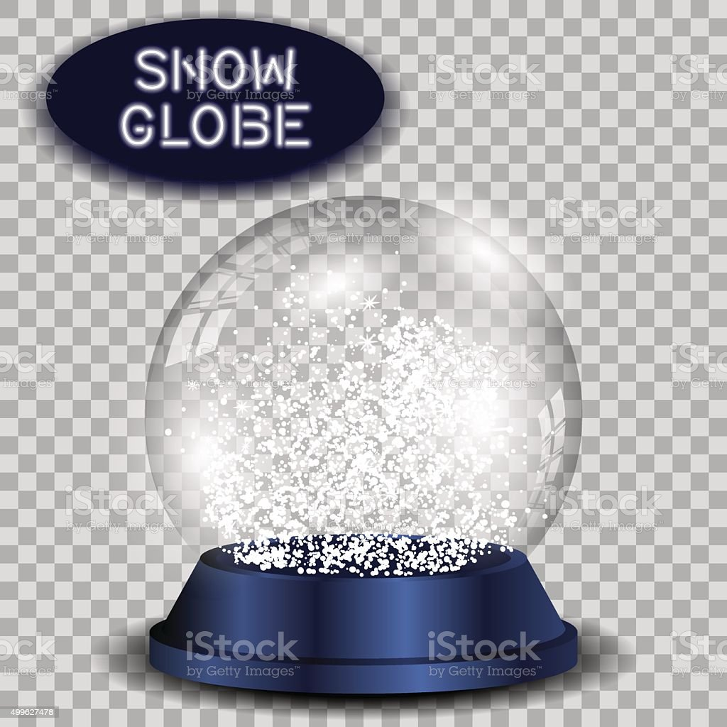 Crystal snow globe transparent and isolated for design. Vector eps10. vector art illustration
