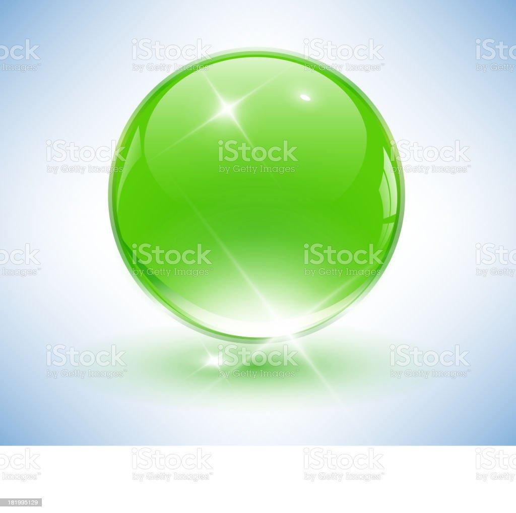 3D crystal sphere royalty-free stock vector art