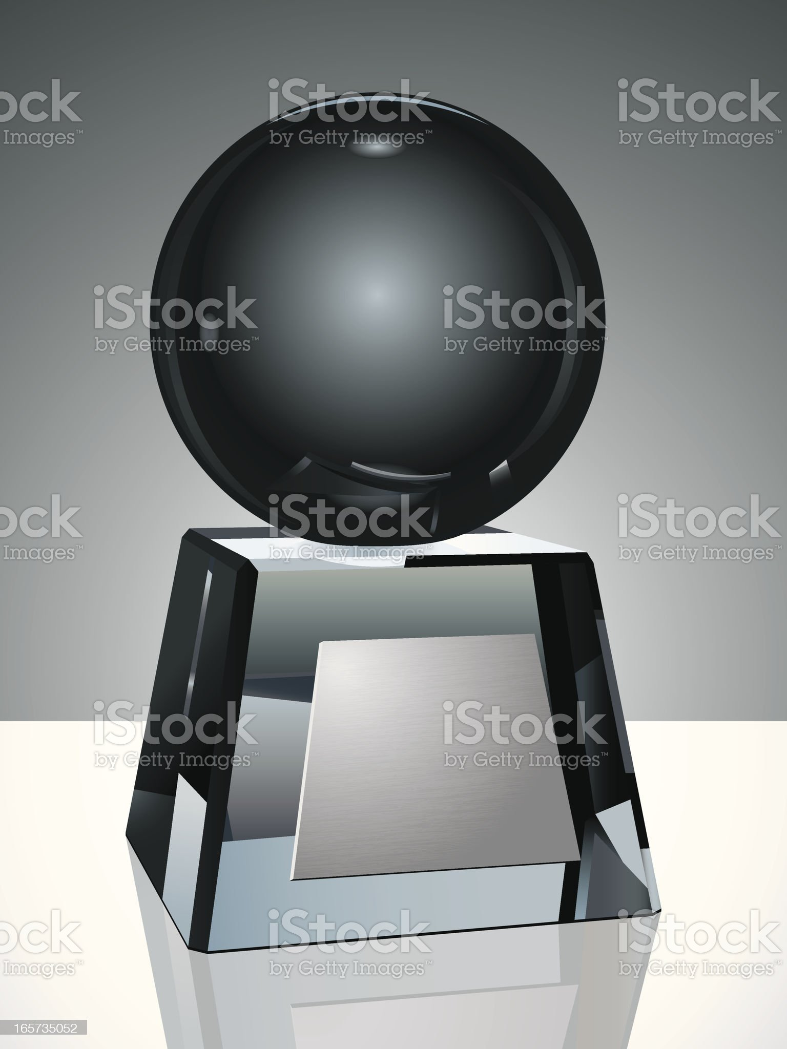 Crystal Trophy with Globe royalty-free stock vector art
