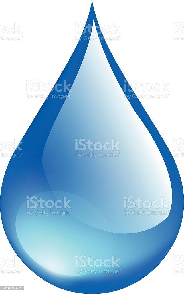 Crystal Water drop vector art illustration