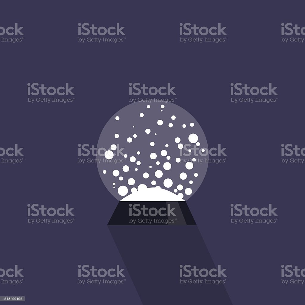 Crystall Ball vector art illustration