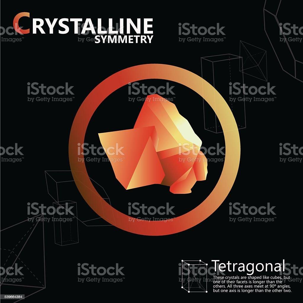Crystalline symmetry vector art illustration