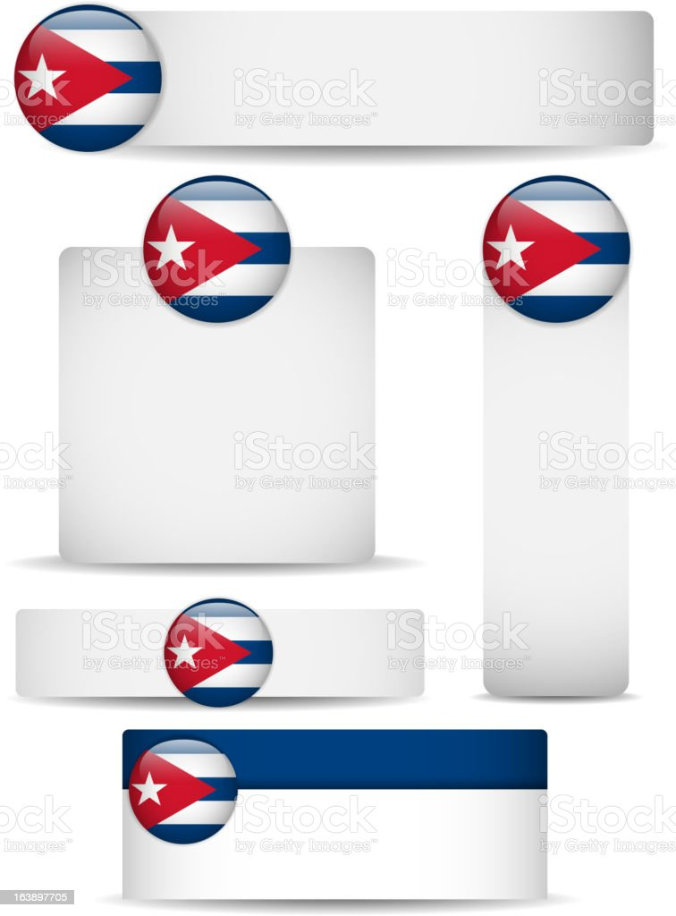 Cuba Country Set of Banners royalty-free stock vector art