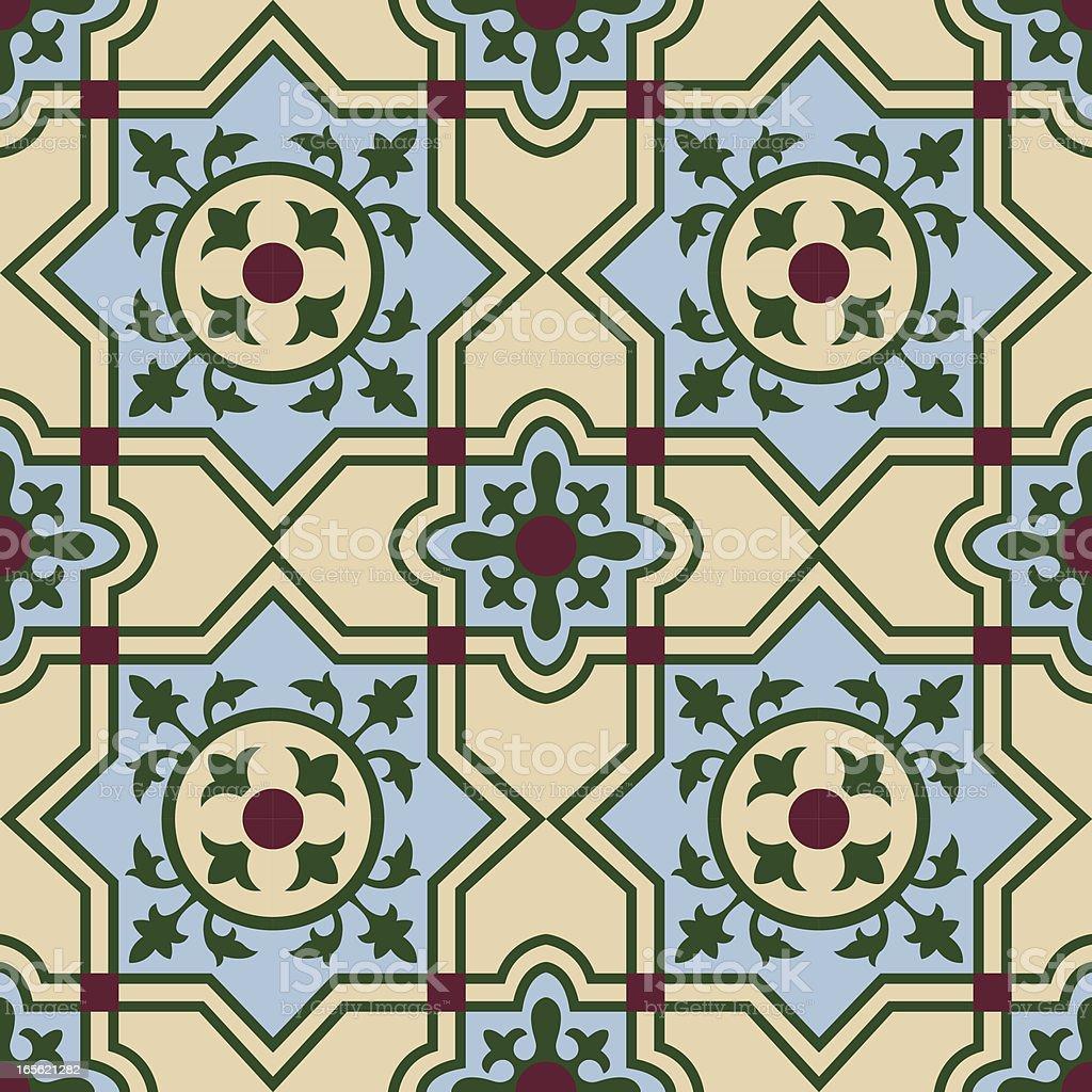 cuban spanish tiling 4 vector art illustration