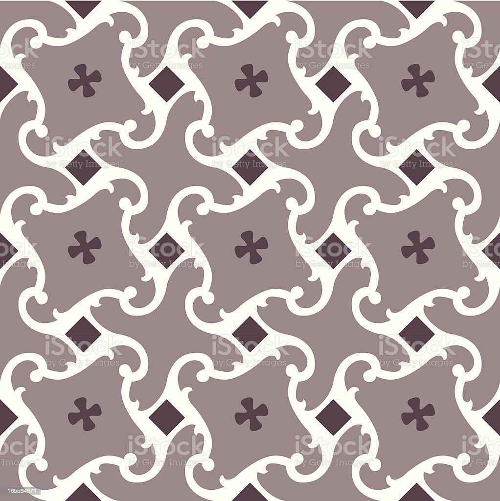 Cuban spanish tiling vector art illustration