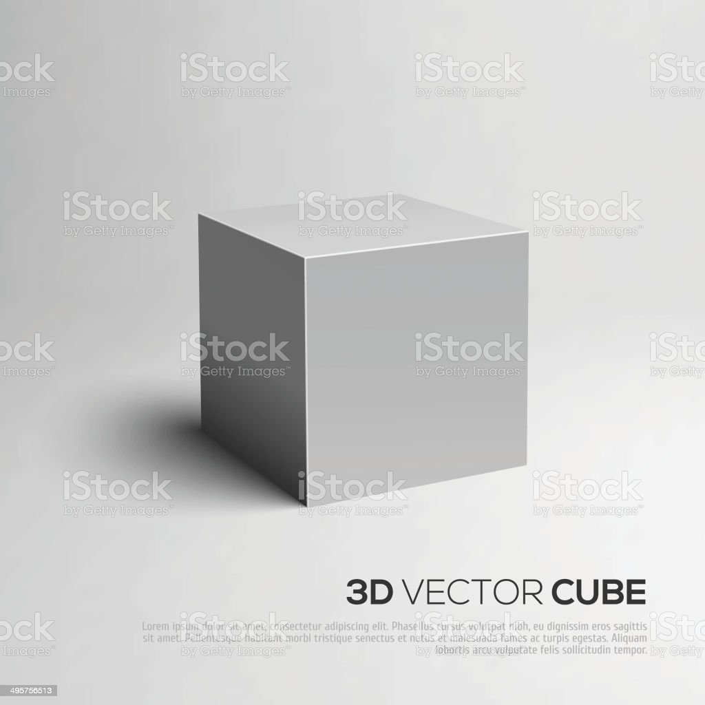Cube 3D. Vector illustration for your design. vector art illustration