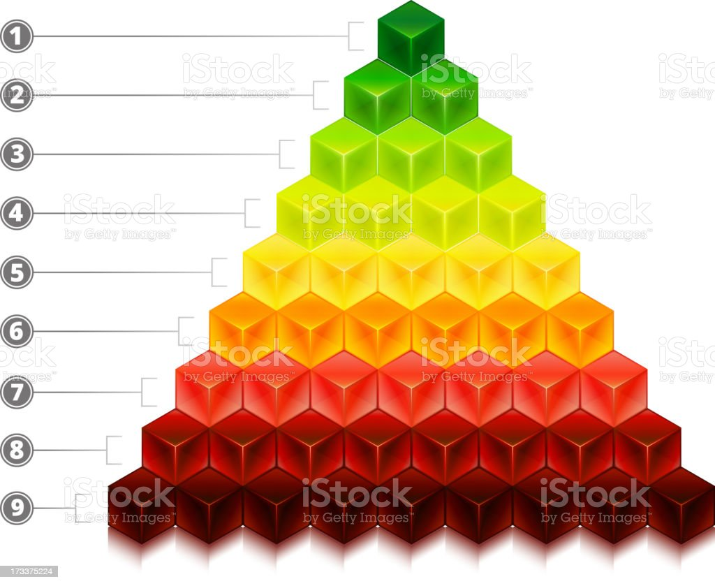 Cube Chart Growth Business Concept royalty-free stock vector art