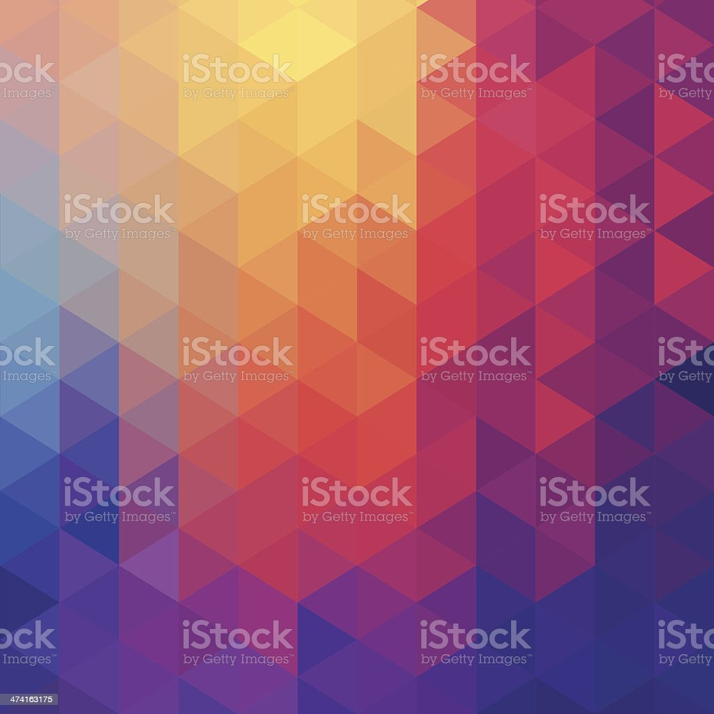 Cube diamond abstract background vector art illustration