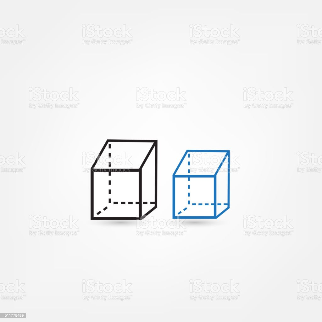 cube icon vector art illustration