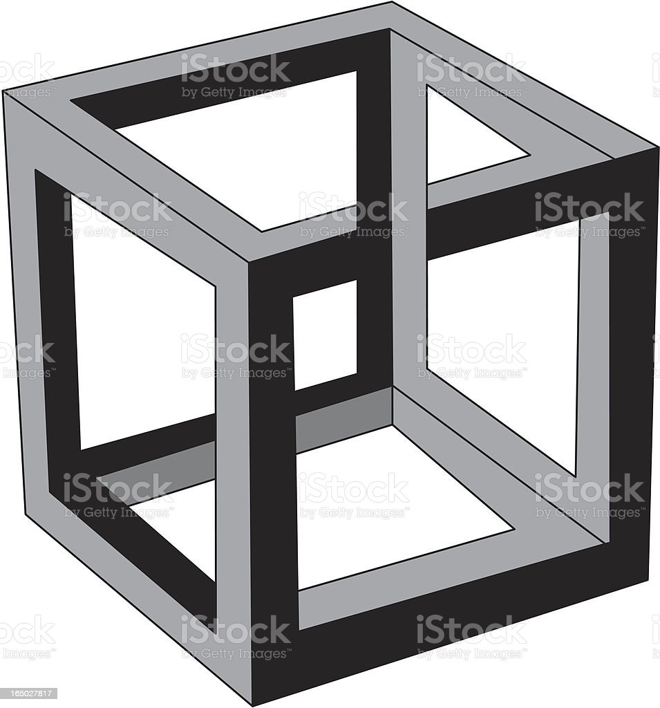 Cube Illusion royalty-free stock vector art