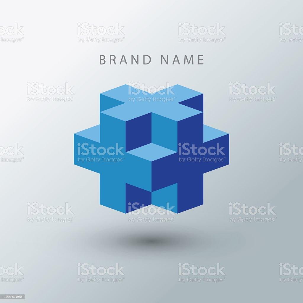 Cube logo design template. vector art illustration