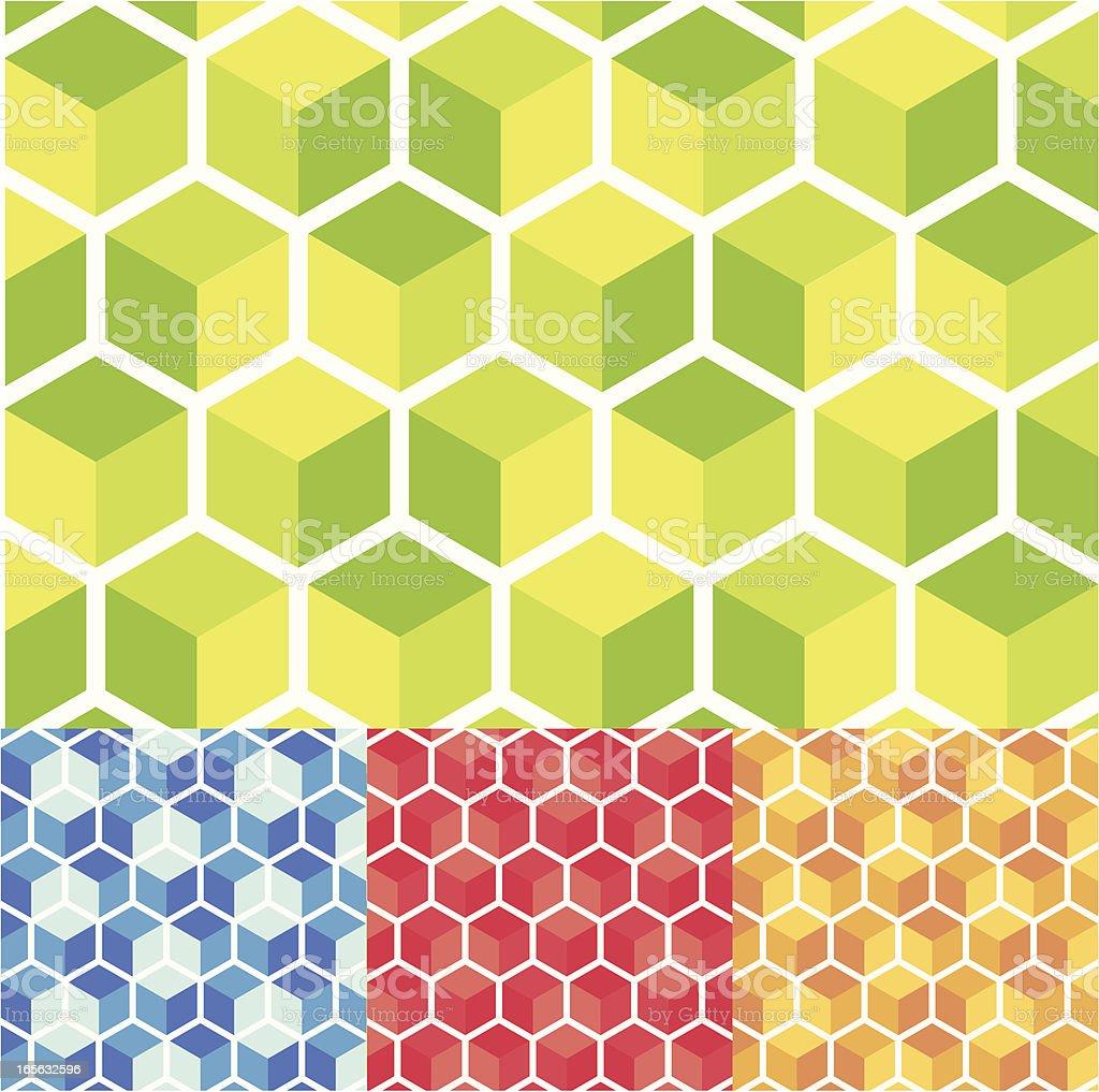 Cube pattern royalty-free stock vector art