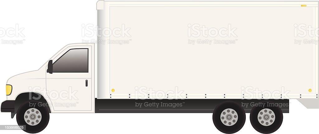 Cube Van royalty-free stock vector art
