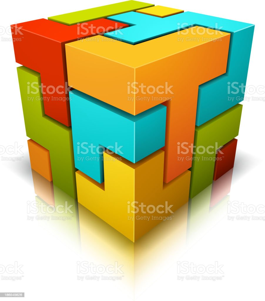 Cube vector art illustration