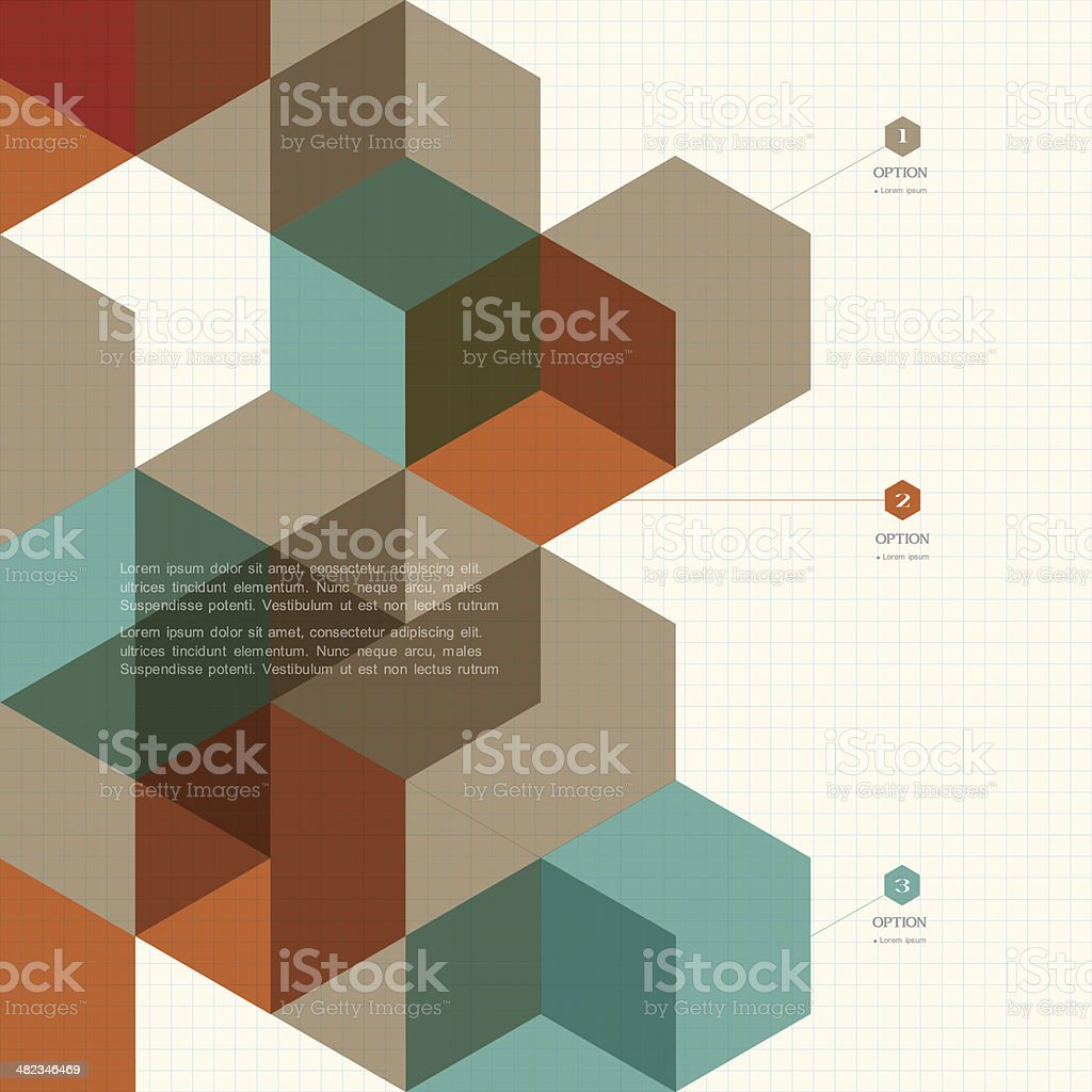 Cubes geometric background vector art illustration