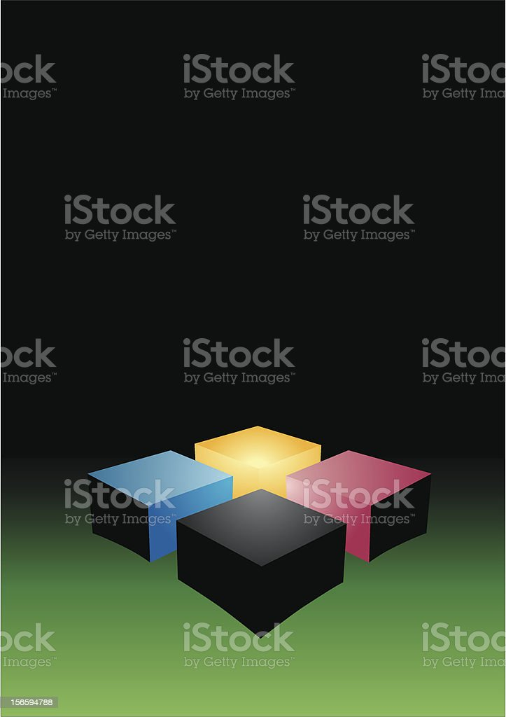 Cubes on a surface royalty-free stock vector art