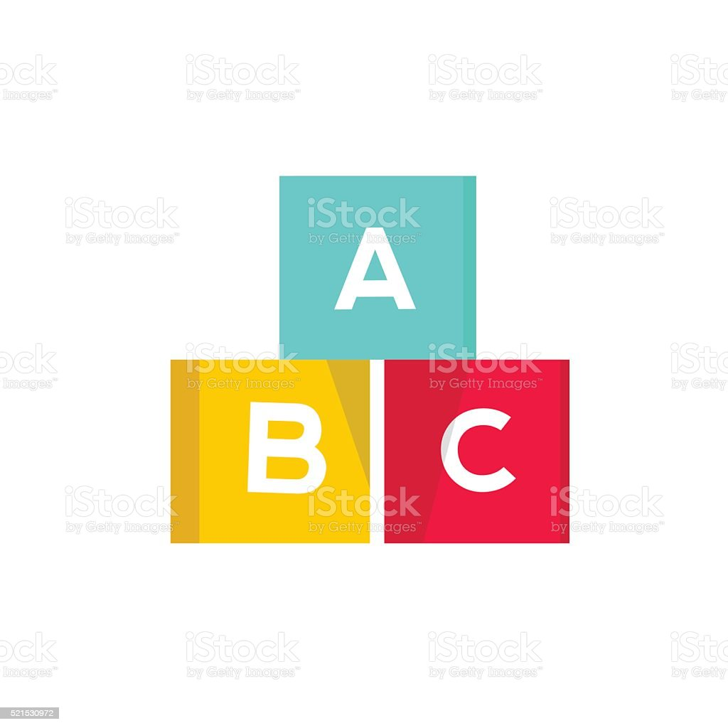 ABC cubes vector illustration, blocks with alphabet vector art illustration