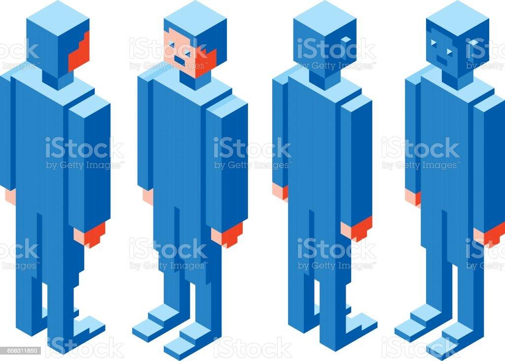 Cubic Character vector art illustration