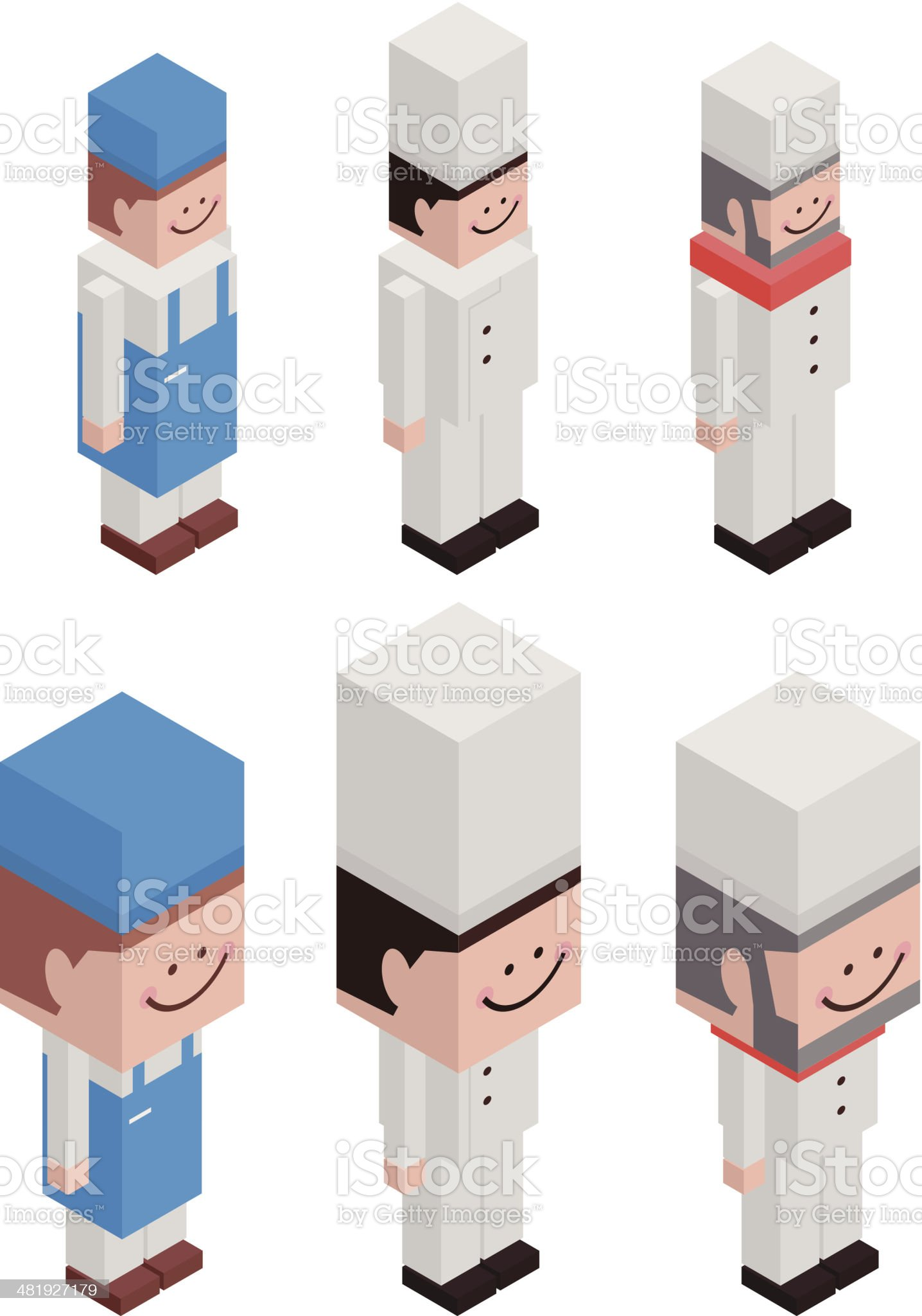 Cubic Chef royalty-free stock vector art