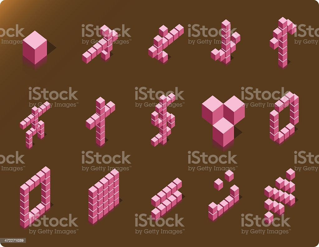 Cubic Icons #02 [vector] royalty-free stock vector art