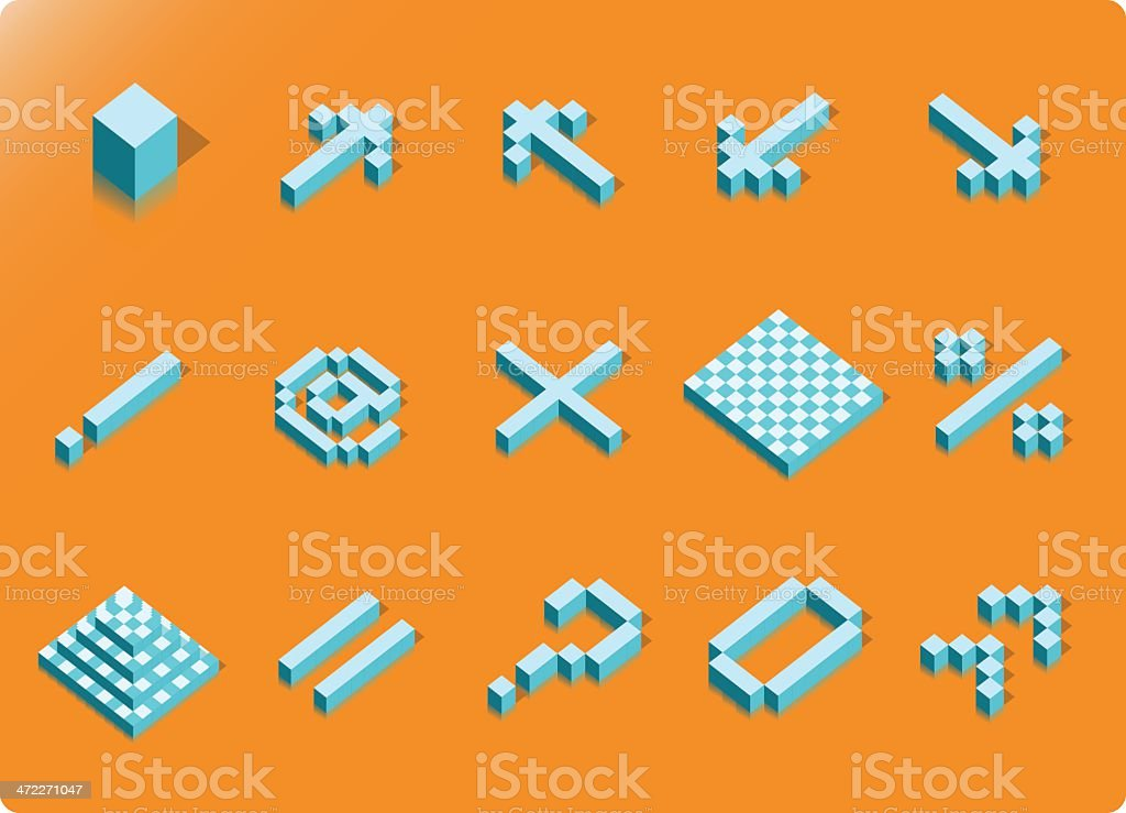 Cubic Icons #03 [vector] vector art illustration
