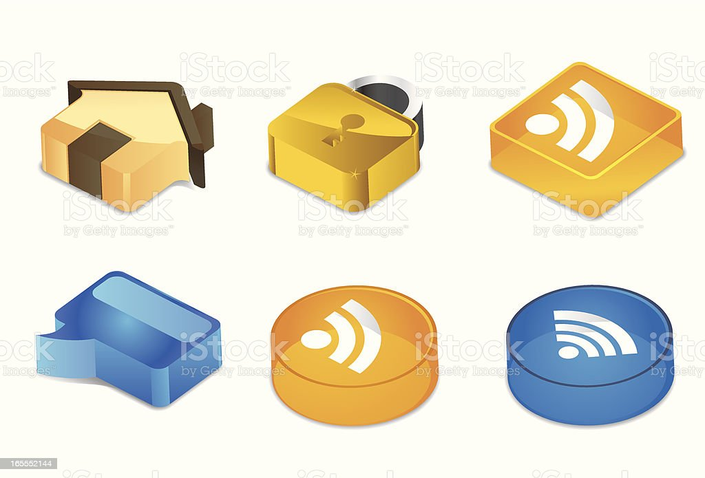 Cubic Icons | Website & Blog royalty-free stock vector art