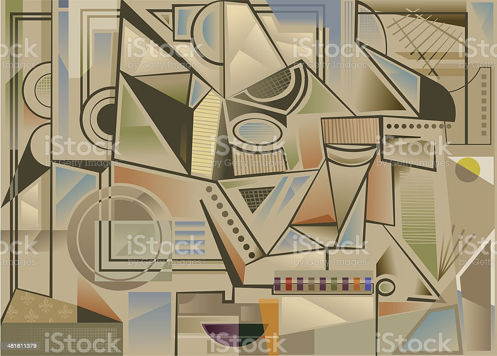 Cubist background royalty-free stock vector art
