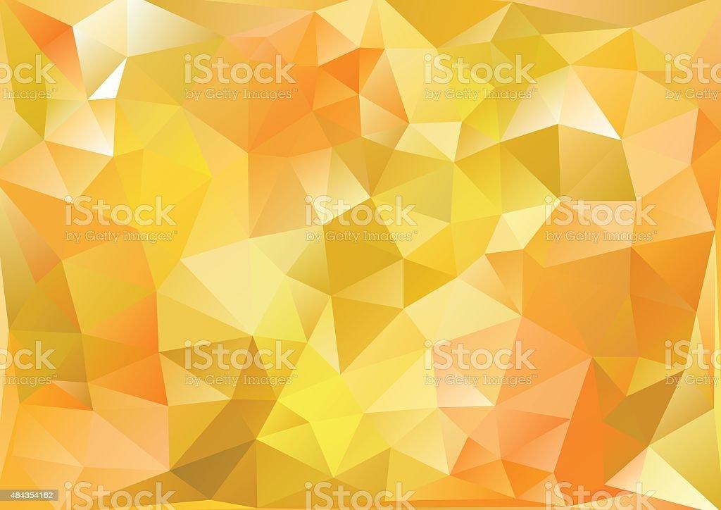 キュビズム背景_渋黄と橙 vector art illustration