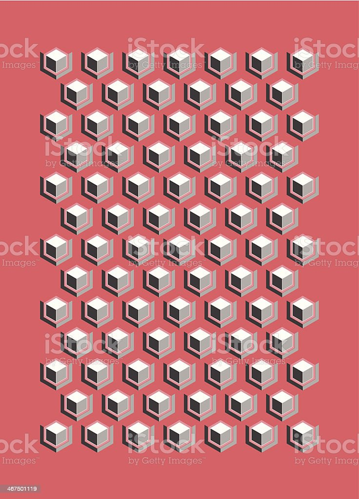 Cubus pattern composition vector art illustration