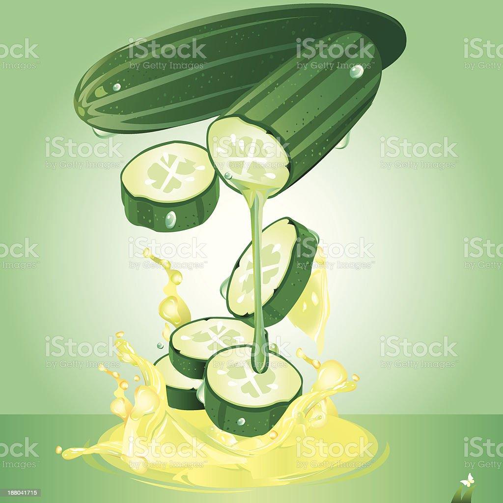 Cucumber juice. royalty-free stock vector art