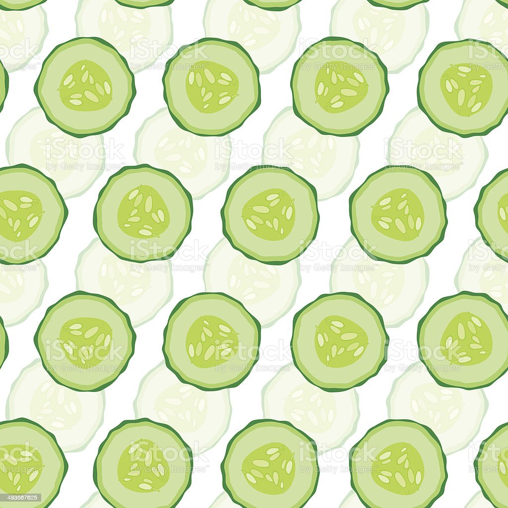 Cucumber seamless  background. vector art illustration