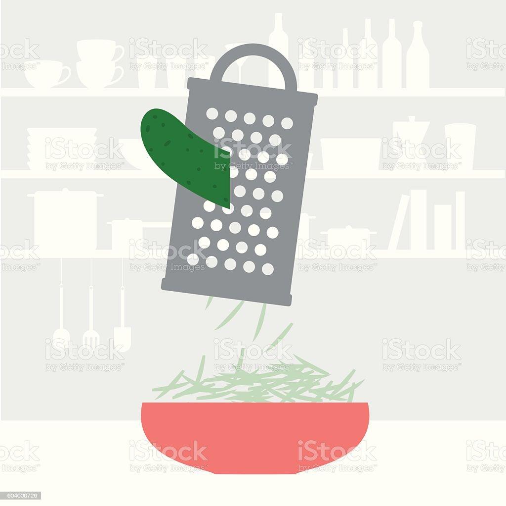 Cucumber vector art illustration