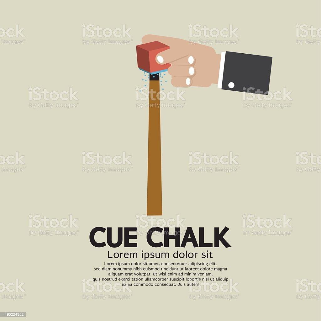 Cue Chalk Or Billiard Sports. vector art illustration