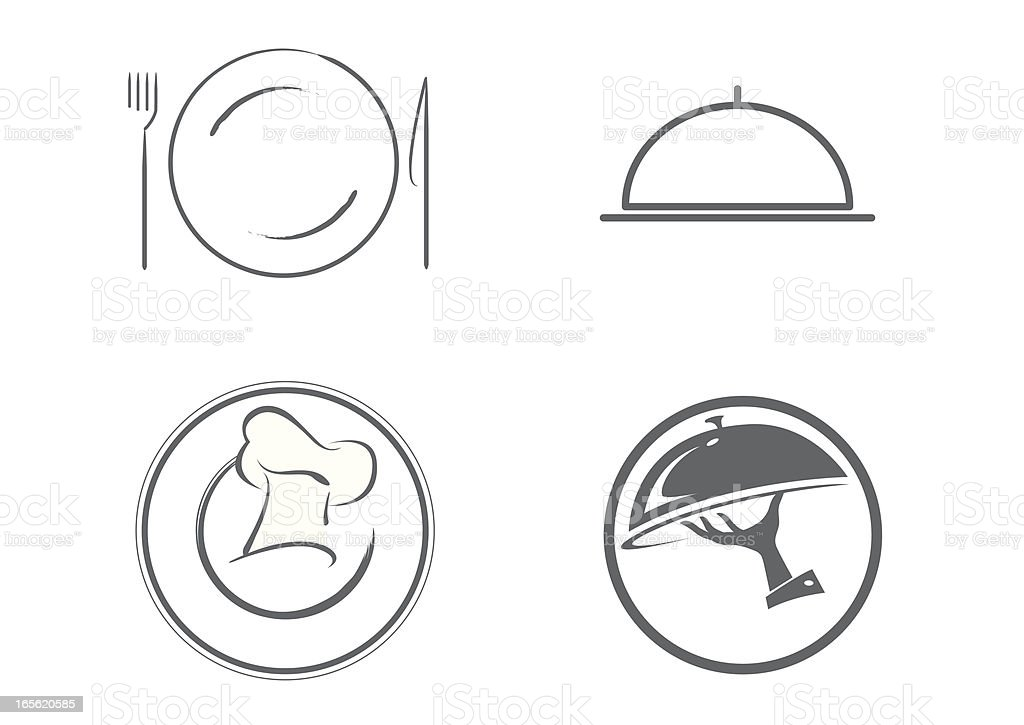 culinary icons royalty-free stock vector art
