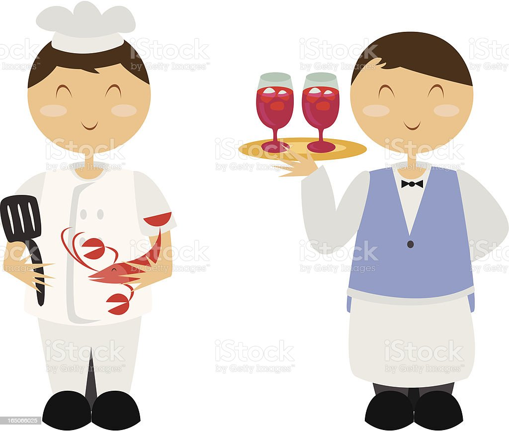 Culinary Professionals royalty-free stock vector art