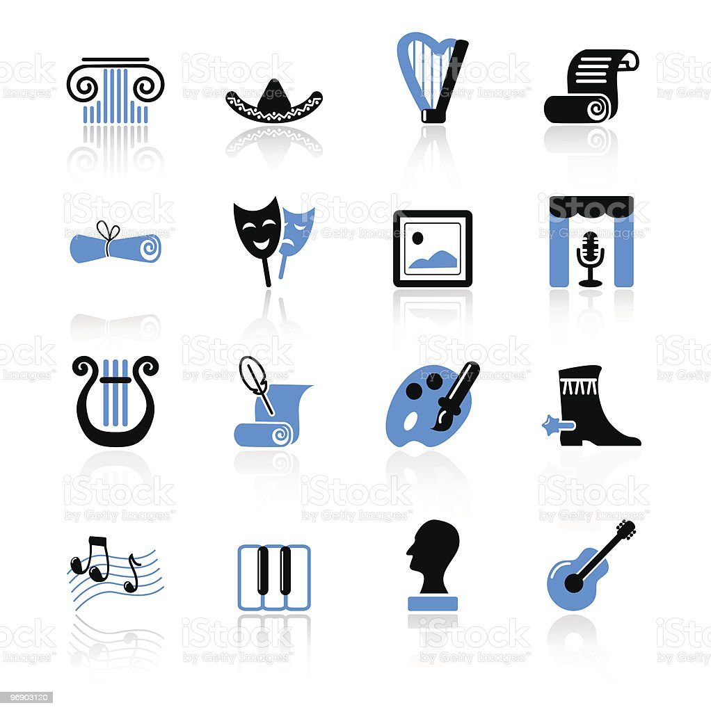 culture icons royalty-free stock vector art