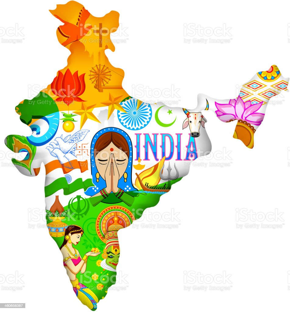 Culture of India vector art illustration