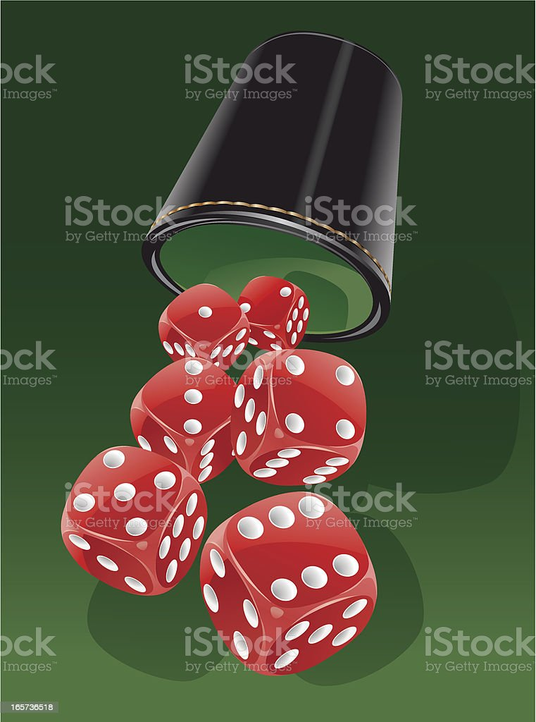 Cup and dice royalty-free stock vector art