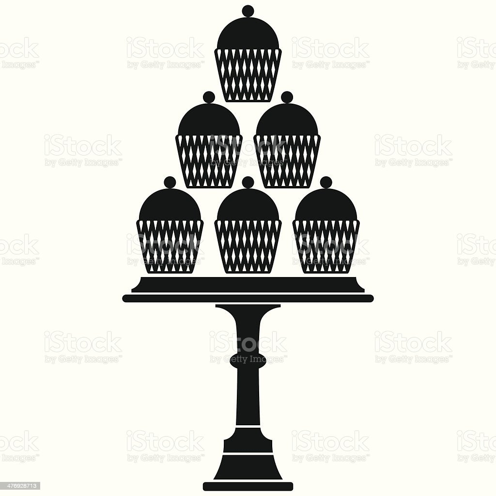 Cup Cake Stand royalty-free stock vector art