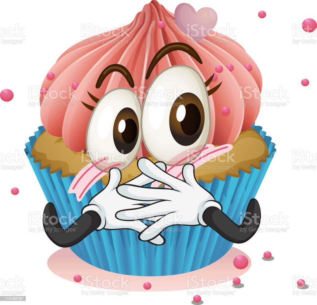 Cup cake royalty-free stock vector art