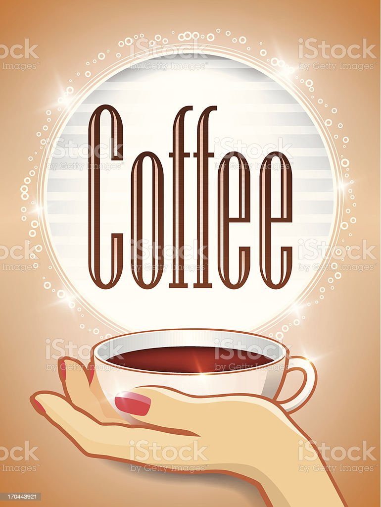 Cup fo Coffee royalty-free stock vector art