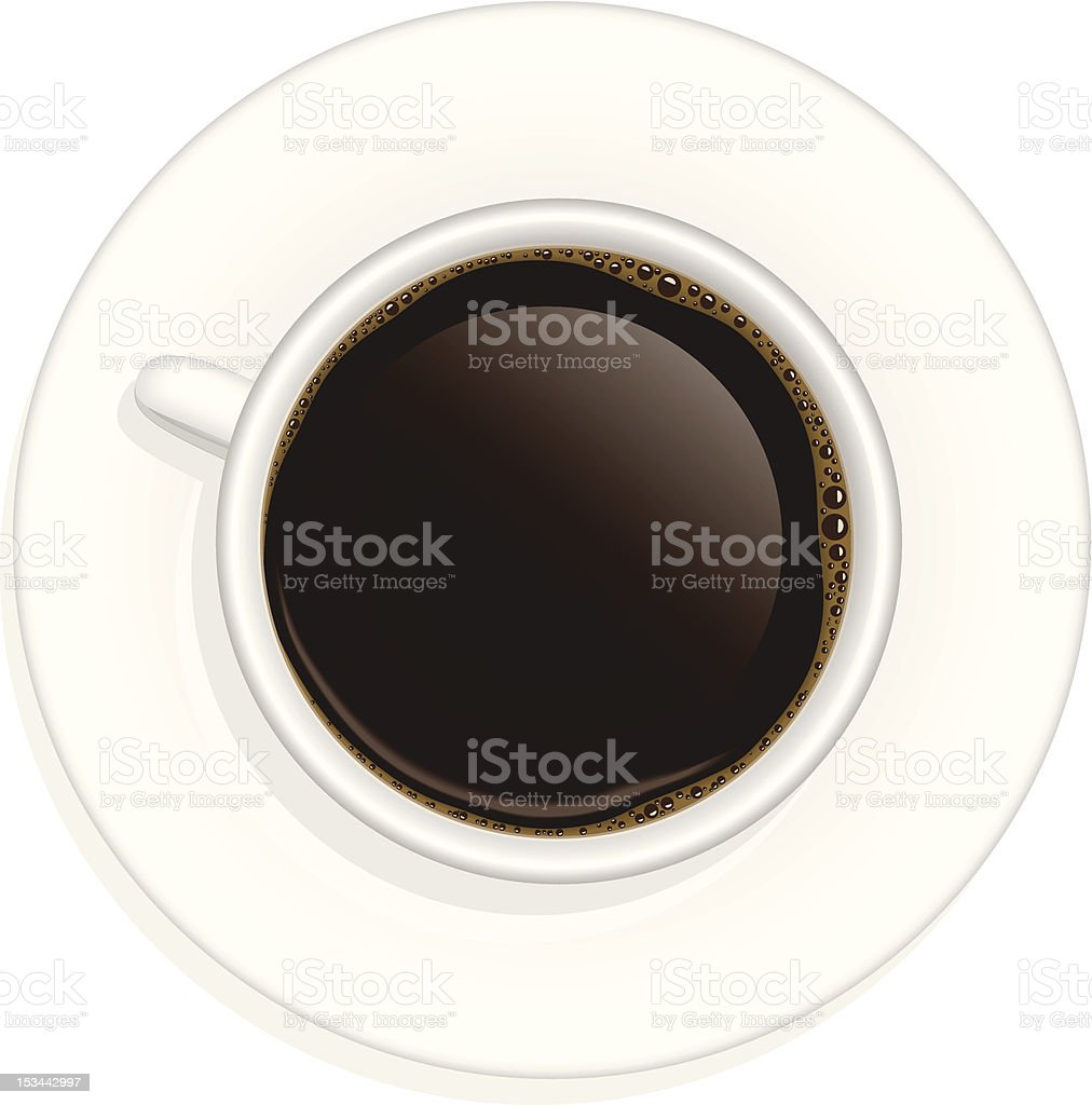 Cup of black coffee royalty-free stock vector art