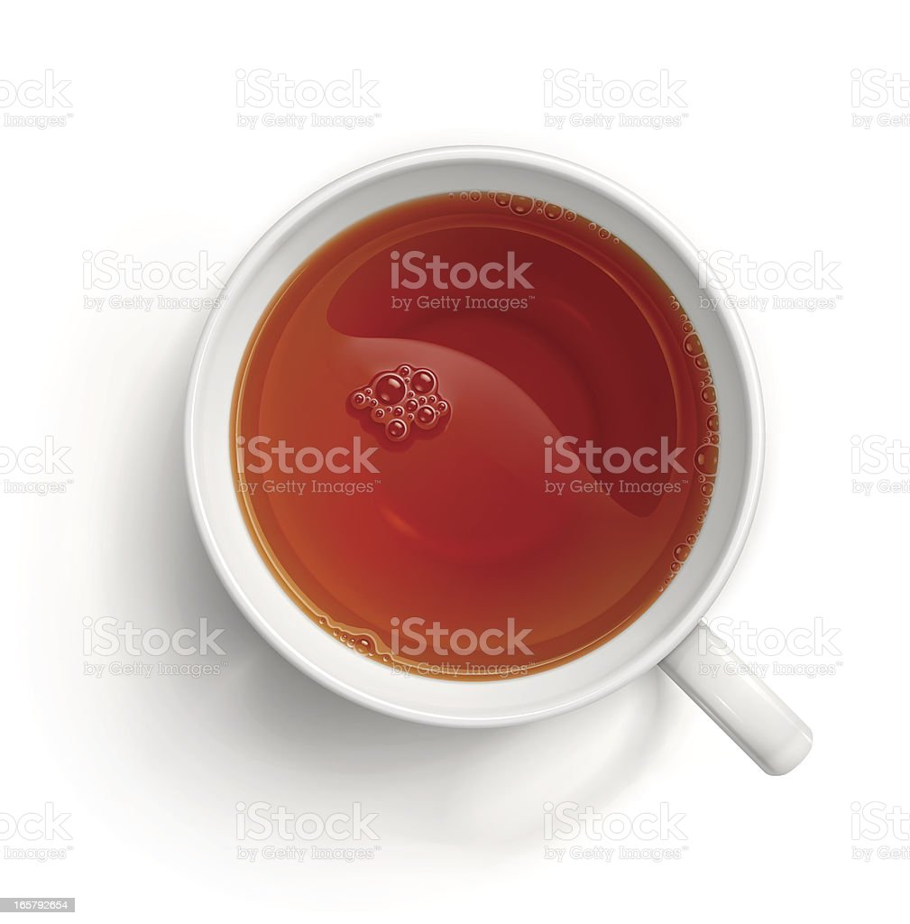 Cup of black tea royalty-free stock vector art