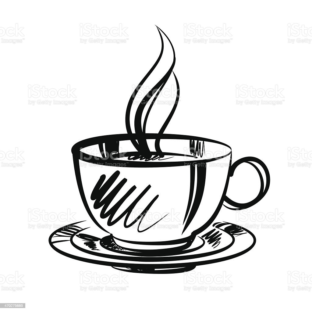 Taza de caf de ilustraci n vectorial de dibujos animados for Immagini vector
