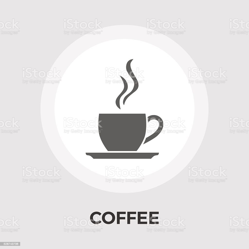 Cup of coffee flat icon vector art illustration