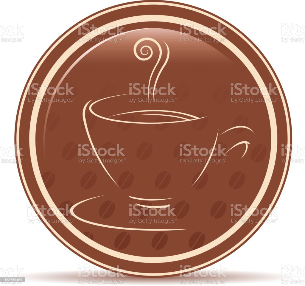 cup of coffee silhouette royalty-free stock vector art