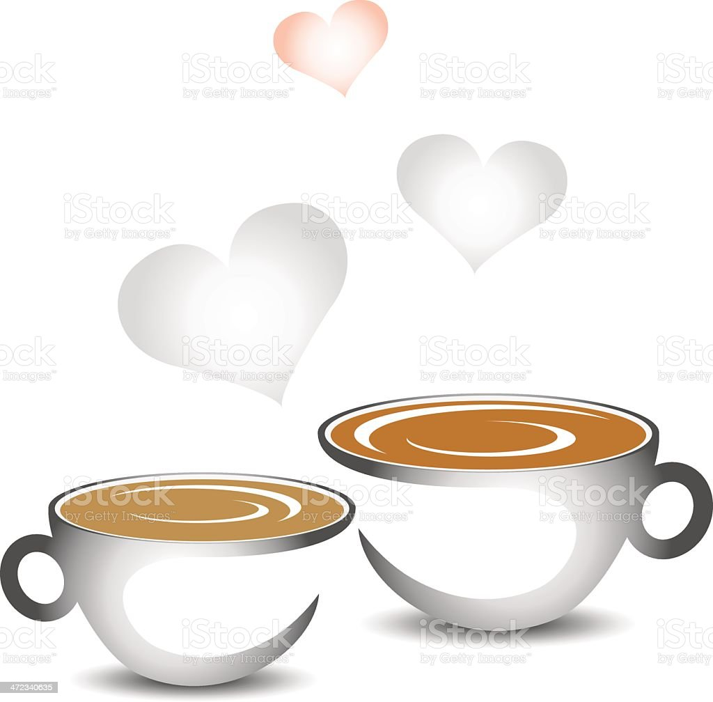 cup of coffee with hearts royalty-free stock vector art